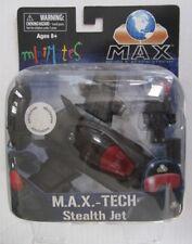 M.A.X.-TECH~STEALTH JET~TRANSLUCENT BLACK~TRU EXCLU~PILOT MINIMATE~NEW~SEALED