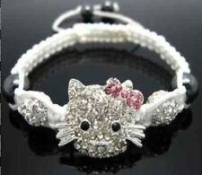 New Hot Crystal Lovely Cat Girl Childen kids Shamballa Bracelet Jewellery GIFT 6