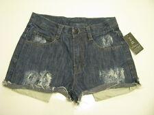 NEW Urban Outfitters Urban Renewal Destroyed Turn-Up Hem Denim Shorts SZ XS