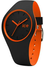 *BRAND NEW* ICE 001529 Duo Black Orange Medium Silicone Watch DUO.BKO.U.S.16
