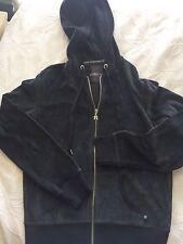 VICTORIA'S SECRET Supermodel Essentials Hoodie Jacket Black Sequin Angel Wings M