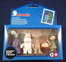 Moomin Figures, The Hemulen, Snork, Sniff, Little My and Snufkin, NEW
