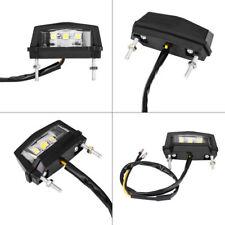 Universal Motorcycle Black 3 LED Rear Tail Light License Number Plate Lamp 12v