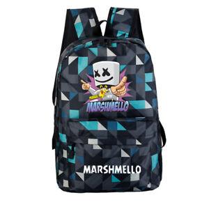 DJ  Marshmello Bag Luminous Mellow Backpack Shoulder Bag Rucksack Student Bag