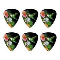 Ruby's Hummingbird Flower Garden Novelty Guitar Picks Medium Gauge - Set of 6