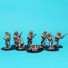 28mm WW2 British infantry section 02 ,unpainted ,historical, 1st Corps