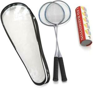 Badminton Rackets, 2 Rackets, Lightweight & Sturdy, with 5 LED SHUTTLECOCKS