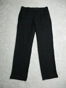 Nike Golf Pants Mens 32x32 Medium Black Straight Leg Flat Front Polyester Blend