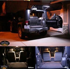 Brawlee LED Rear Glass Lift Gate Dome Light Bar for Jeep 07-18 JK JKU Wrangler