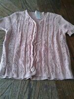 Vintage Pierre Cardin Cardigan Pink Knit Women Small (cb26)