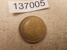 1963 Spain Una Peseta - Nice Collector Grade Album Type Coin - # 137005