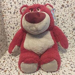 "Disney Toy Story Lotso Huggin bear Soft Plush strawberry scented 15"" large VGC"