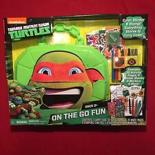 Teenage Mutant Ninja Turtles On The Go Fun Activity Set NEW MIB Nickelodeon