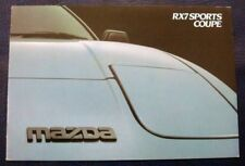 MAZDA RX7 SPORTS COUPE Car Sales Brochure March 1984 #RX7/3/84
