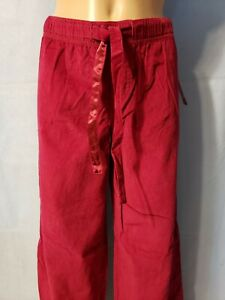 New Junior Girl's Xhilaration Berry Red Thin Soft Corduroy Sleepwear Pants  M