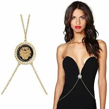 Sexy Harness Belt Belly Waist Bikini Beach Gold Lion Head Body Chain  Necklace