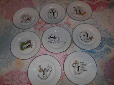 Vintage 8 Piece PB Penguins Pottery Barns Appetizer Plates
