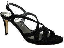 Stuart Weitzman Women's Axislith Dress Sandals Black Goose Bump Size 5.5 M