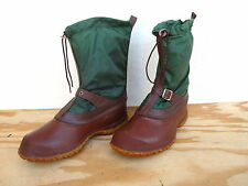 Rare Vtg Mens L.L. Bean Hunting Duck Bean Boots Sz 9 Brown/Green Made in USA