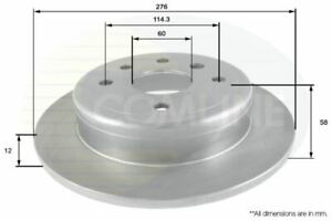 FOR CHEVROLET EPICA 2.5 L COMLINE REAR BRAKE DISCS ADC2800