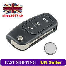 3 Button Remote Key Fob Shell + CR2032 Battery For Ford Focus Mondeo Ecosport