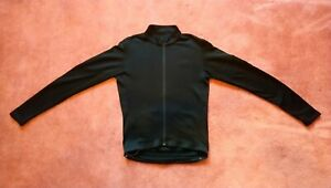 RAPHA MEN'S CLASSIC LONG SLEEVE JERSEY BLACK SIZE MEDIUM