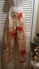 Hearts of Palm Capri Pants Capris Floral Size 12 NWT