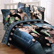 WWE Comforter Sheet Set 4 pc Twin Wrestling  John Cena Daniel Bryan Boys Bedroom