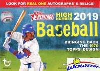 2019 Topps Heritage High Number Baseball EXCLUSIVE Factory Sealed Blaster Box!