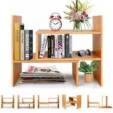Customized 5Type Desktop Bookshelf Adjustable Kitchen Office Wood Desk Organizer