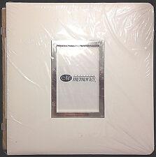 Creative Memories 12x12 Scrapbook Album White Window Leather Frame NIP NEW