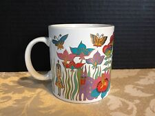 """Laurel Burch Design_Coffee Mug_""""Fantasy in the Forest"""" 1989 - Made in Japan"""