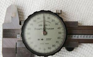 "Brown & Sharpe 599-578-1 Dial Caliper 0 - 6"" - Silver Swiss Made"