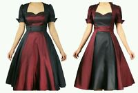 vintage rockabilly swing dress s evening retro party style women pin up polka s