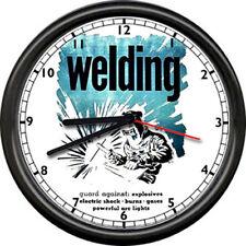 Welding Welder Repair Arc Lights Tools Iron Worker Vintage Look Sign Wall Clock