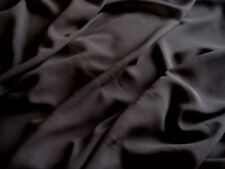 Black Polyester Single Georgette/Chiffon Fabric Material   FREE UK P&P