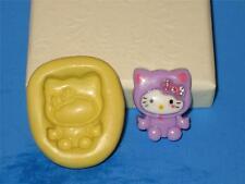 Hello Kitty Geisha Mold Flexible Resin Clay Candy Food Safe Silicone #633