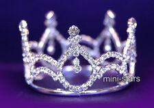 Flower Girl / Baby Crystal Full Circle Round Mini Tiara Crown T1040