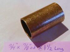 Oilite Bushing Bronze New 3/4 id x 7/8 od x 1 1/2 Brass bearing shim spacer B57