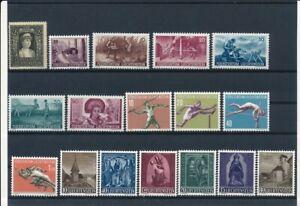 D203048 Liechtenstein 1934-1957 Nice selection of MNH stamps