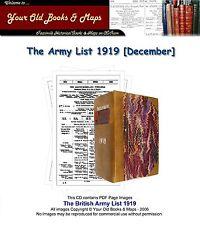 British Army List 1919 WW1 CDROM