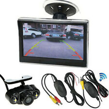 "Wireless Car Rearview Backup Night Vision Camera+5"" TFT LCD Monitor For Truck RV"