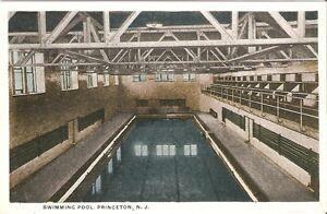 Princeton NJ University Swimming Pool Postcard PC WB New Jersey College
