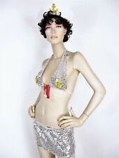 Sexy Sailor Sequin Costume Elegant silver and gold 1621 Small