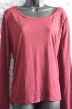 Internacionale UK 18 Ladies Burgundy Long Sleeve Loose Fit Top