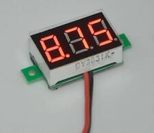 Mini Digital Voltage Meter Panel DC 4.5V to 30V voltmeter 5V 12V 24V with R LED