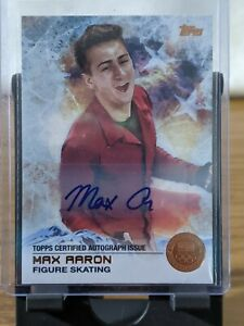 2014 Topps US Olympic Cards Auto Autograph Signed Max Aaron Bronze 09/50