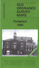 OLD ORDNANCE SURVEY MAP PONTEFRACT 1890 COLOURED EDITION
