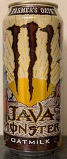 NEW JAVA MONSTER FARMERS OAT'S OATMILK COFFEE + ENERGY DRINK 15 FL OZ FULL CAN