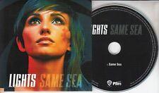 LIGHTS Same Sea 2015 UK 1-track promo CD